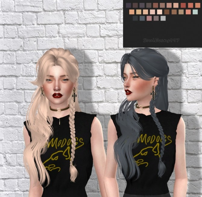 Sims 4 Stacy Hair Retexture at SoulEvans997