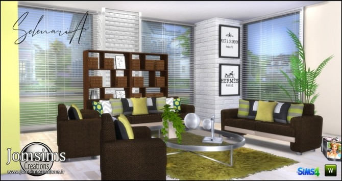 Selenaria living room at Jomsims Creations image 745 670x355 Sims 4 Updates