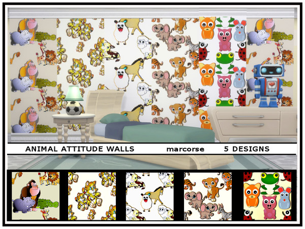 Animal Attitude Walls by marcorse at TSR image 75 Sims 4 Updates