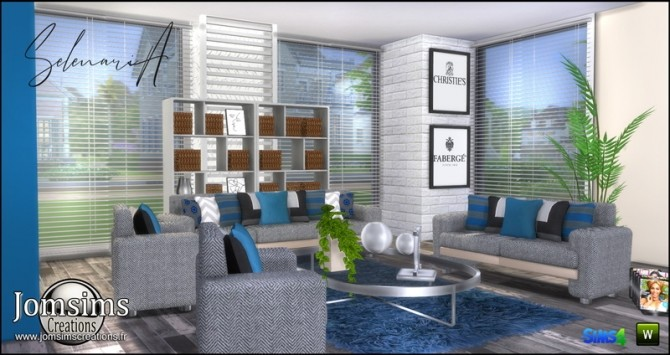 Selenaria living room at Jomsims Creations image 754 670x355 Sims 4 Updates