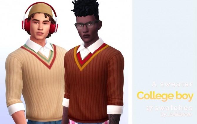 Sims 4 College Boy sweater at Joliebean