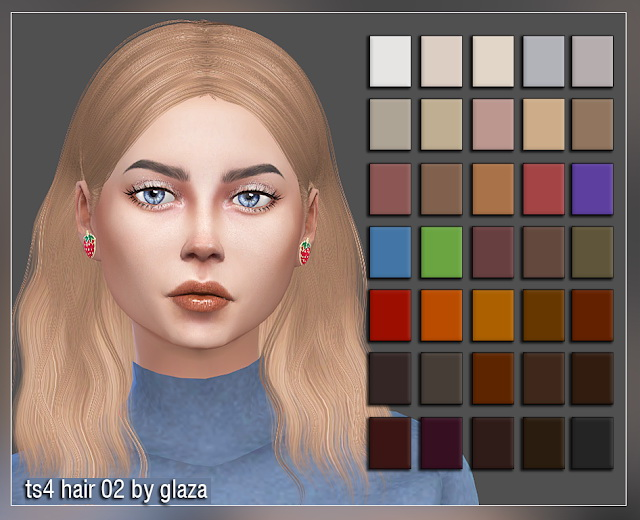 Hair 02 at All by Glaza image 7812 Sims 4 Updates
