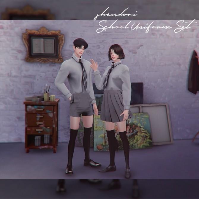 School Uniform Set at SHENDORI SIMS image 7813 670x670 Sims 4 Updates