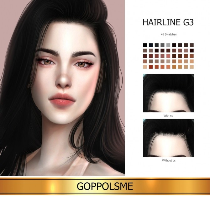 Sims 4 GPME GOLD Hairline G3 at GOPPOLS Me