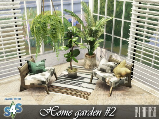Sims 4 Home garden set 2 at Aifirsa