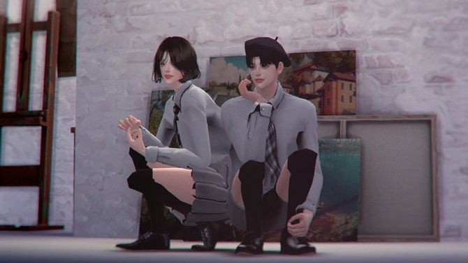 School Uniform Set at SHENDORI SIMS image 7913 670x377 Sims 4 Updates