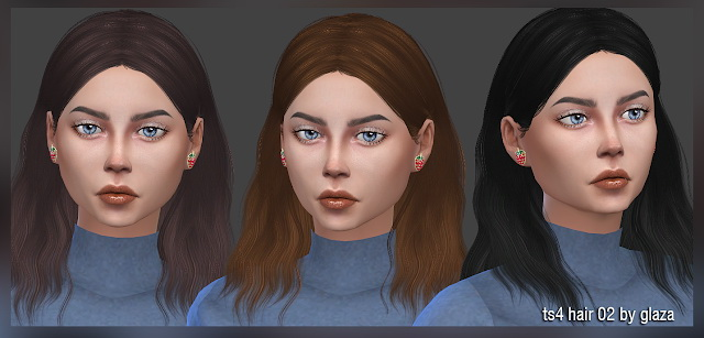 Hair 02 at All by Glaza image 8011 Sims 4 Updates