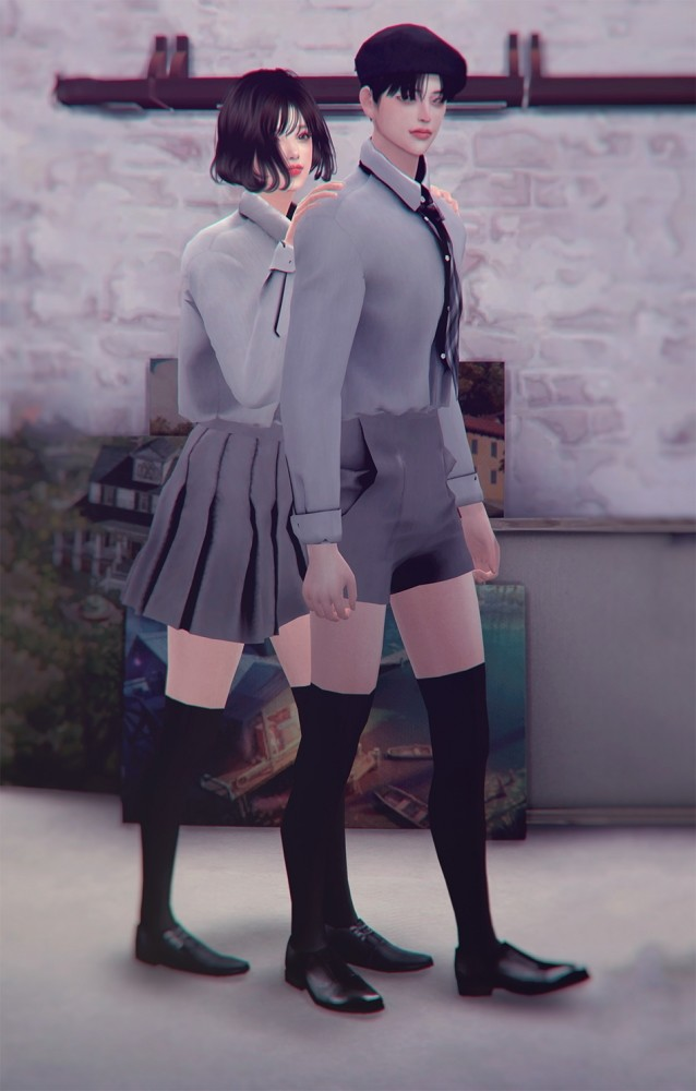 School Uniform Set at SHENDORI SIMS image 8012 638x1000 Sims 4 Updates