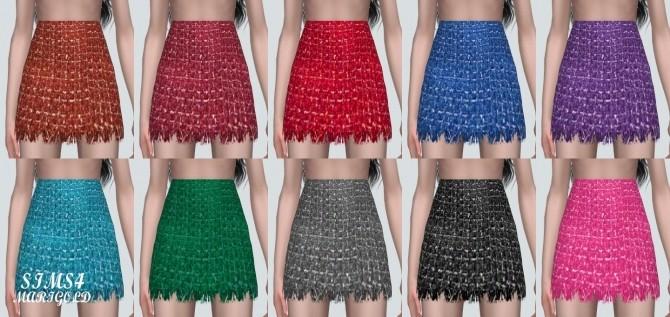 Sims 4 Tweed Mini Skirt at Marigold