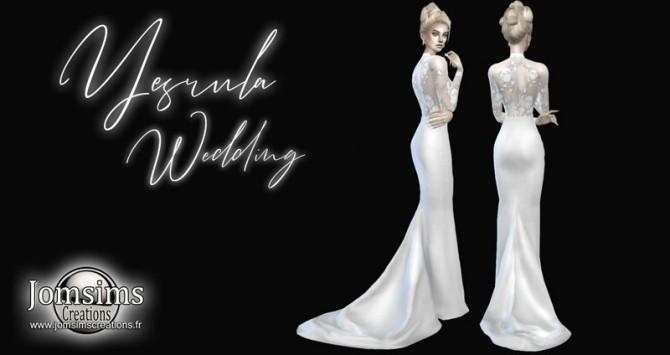 Sims 4 Wedding Dress.Yesrula Wedding Dress At Jomsims Creations Sims 4 Updates