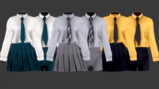 School Uniform Set at SHENDORI SIMS image 8117 670x377 Sims 4 Updates
