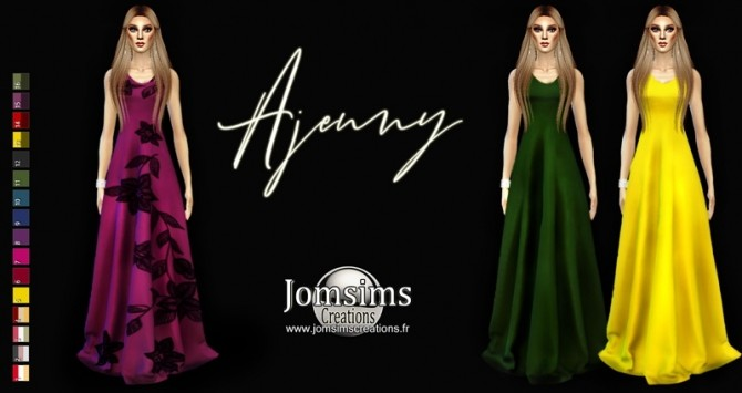 Ajenny dress at Jomsims Creations image 8119 670x355 Sims 4 Updates