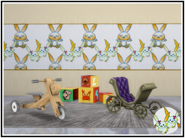 Bunny Rabbit Walls by marcorse at TSR image 814 Sims 4 Updates