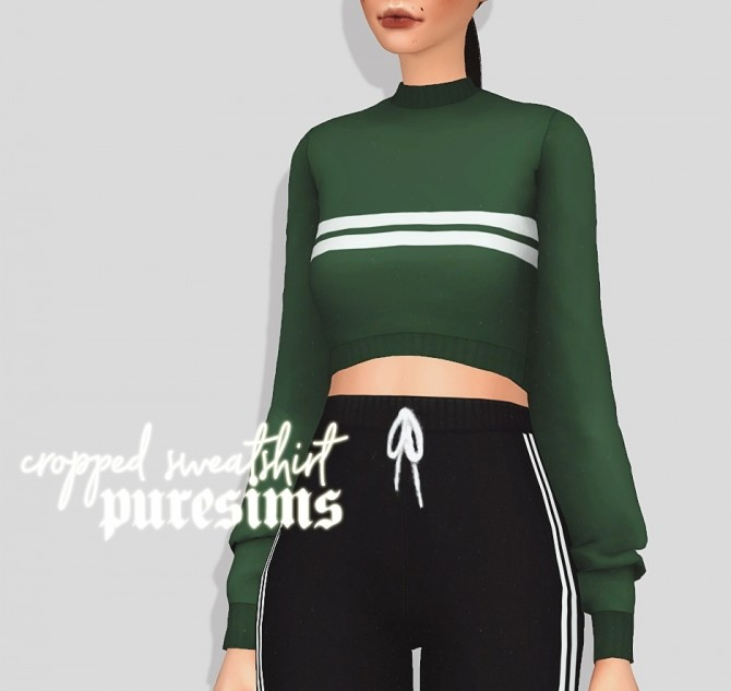Sims 4 Cropped sweatshirt at Puresims