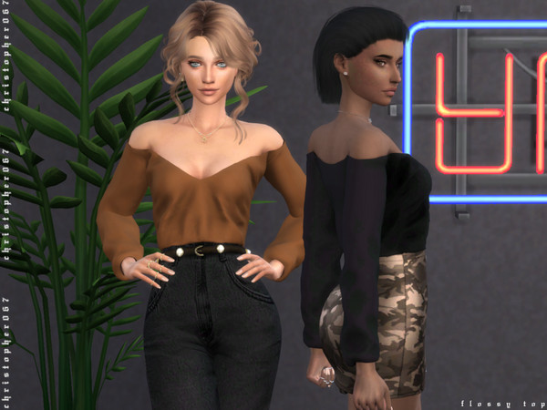 Sims 4 Flossy Top by Christopher067 at TSR