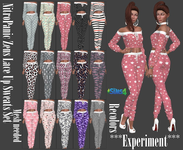 NitroPanic Zens Lace Up Sweat Set Recolors at Annett's Sims 4 Welt image 8619 Sims 4 Updates