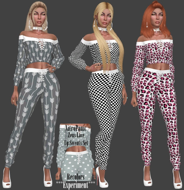 NitroPanic Zens Lace Up Sweat Set Recolors at Annett's Sims 4 Welt image 8717 Sims 4 Updates