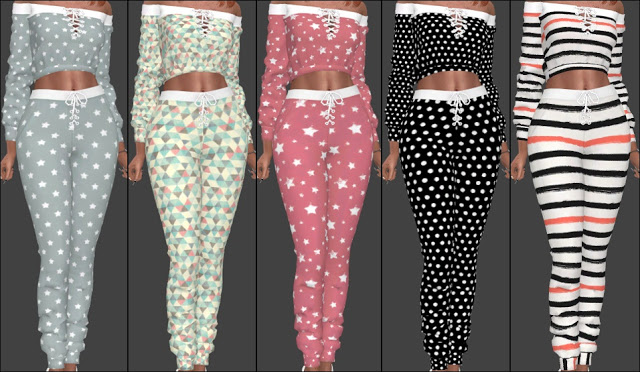 NitroPanic Zens Lace Up Sweat Set Recolors at Annett's Sims 4 Welt image 8818 Sims 4 Updates