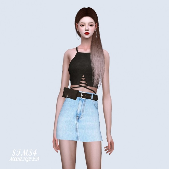 Mini Skirt With Waist Bag Belt at Marigold image 888 670x670 Sims 4 Updates