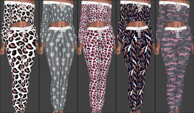 NitroPanic Zens Lace Up Sweat Set Recolors at Annett's Sims 4 Welt image 8920 Sims 4 Updates