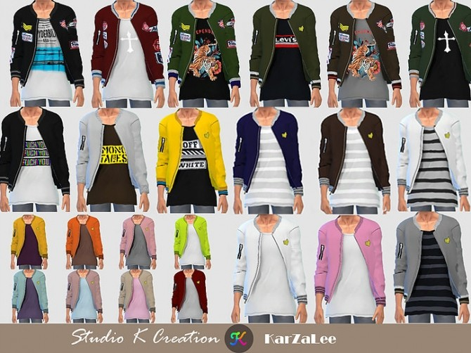 Sims 4 Giruto 71 Bomber Jacket at Studio K Creation