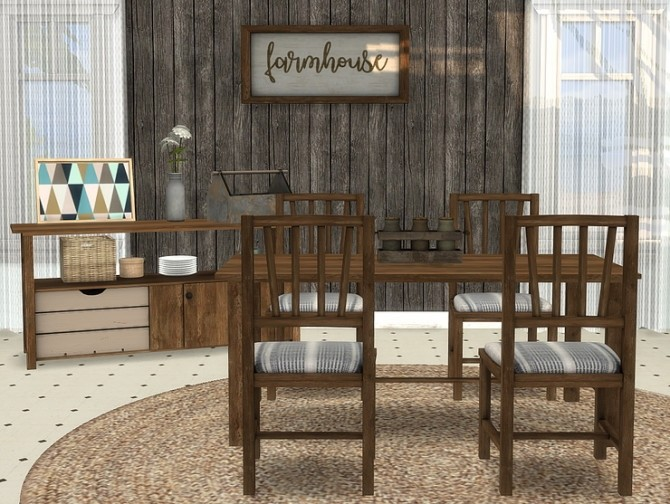 Farmhouse Dining by michelleab01 at Blooming Rosy image 9017 670x504 Sims 4 Updates