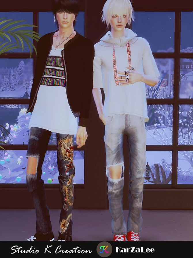 Giruto 70 ripped jeans at Studio K Creation image 902 670x893 Sims 4 Updates
