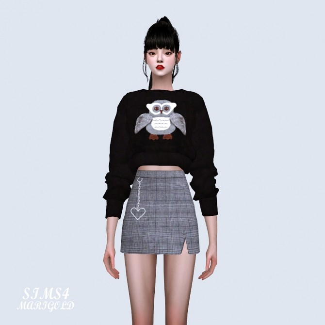 Heart Chain Mini Skirt at Marigold image 908 670x670 Sims 4 Updates
