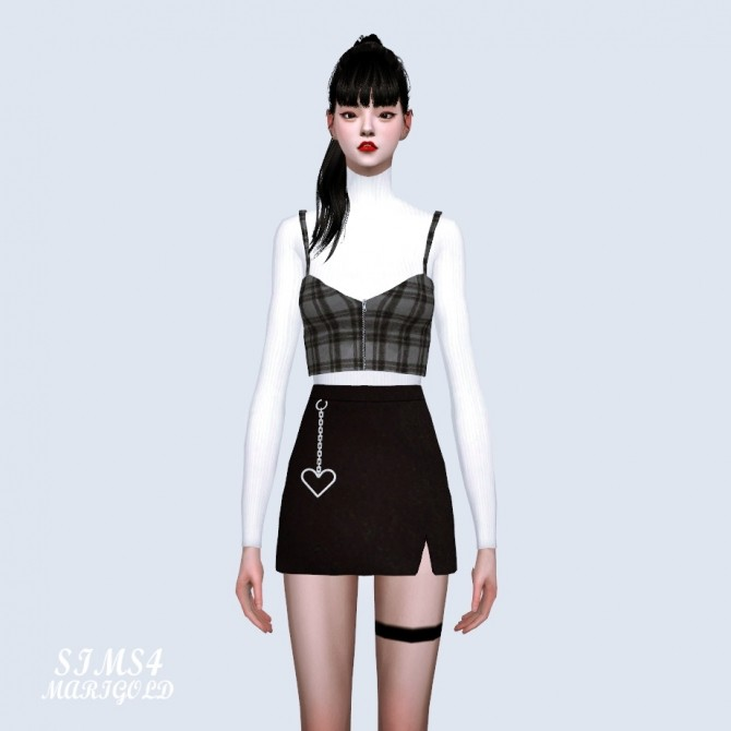 Heart Chain Mini Skirt At Marigold 187 Sims 4 Updates