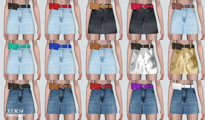 Mini Skirt With Waist Bag Belt at Marigold image 9114 670x393 Sims 4 Updates