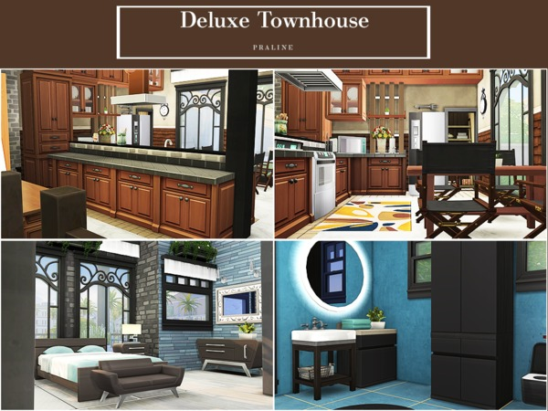 Sims 4 Deluxe Townhouse by Pralinesims at TSR