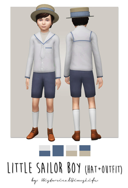 Sims 4 Little Sailor Boy at Historical Sims Life