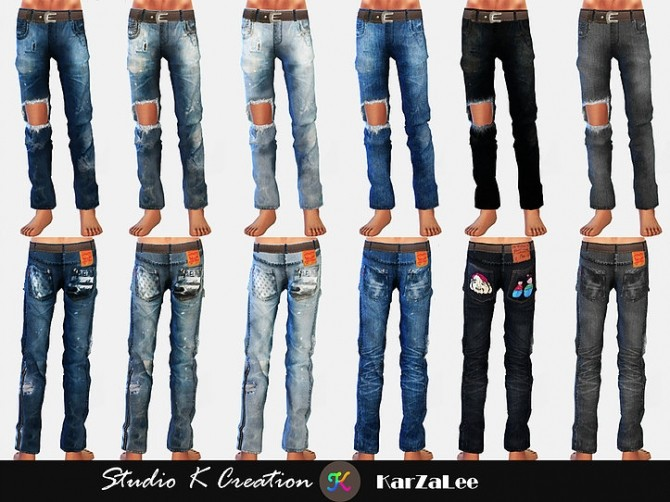 Giruto 70 ripped jeans at Studio K Creation image 922 670x502 Sims 4 Updates