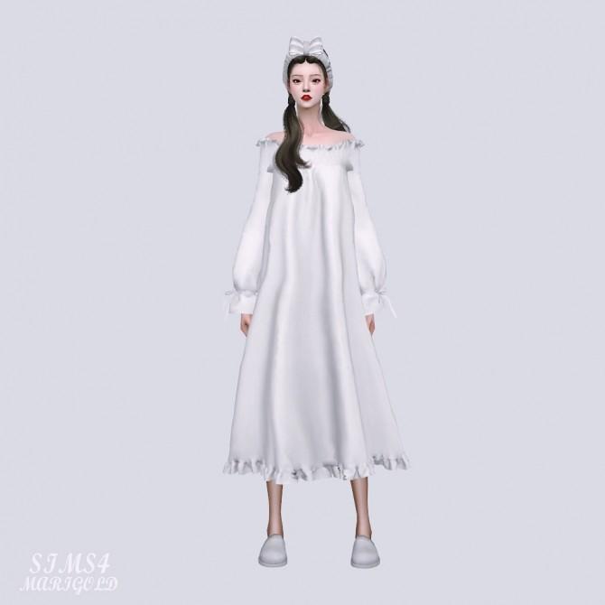 Off Shoulder Night Dress at Marigold image 9221 670x670 Sims 4 Updates