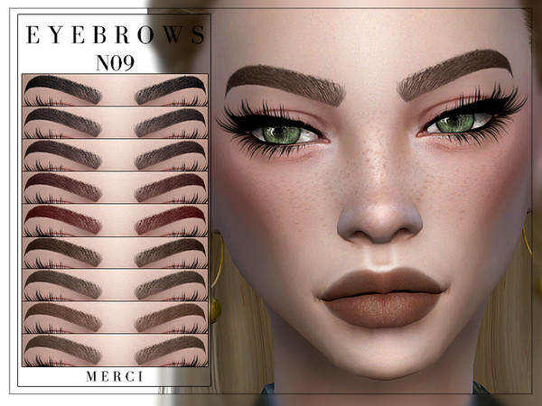 Sims 4 Eyebrows N09 by Merci at TSR