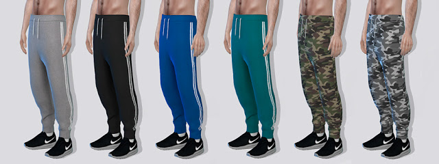 Sims 4 Athletic Sweatpants fixed at Darte77