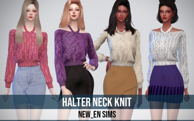 Halter Neck Knit Top at NEWEN image 931 670x419 Sims 4 Updates