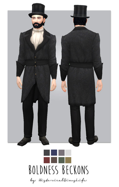 Sims 4 Boldness Beckons Victorian Suit for Men at Historical Sims Life