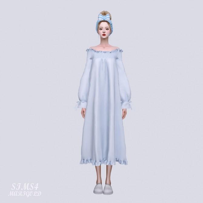 Off Shoulder Night Dress at Marigold image 9321 670x670 Sims 4 Updates