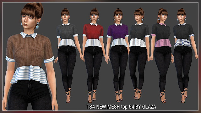 Top 54 at All by Glaza image 934 Sims 4 Updates