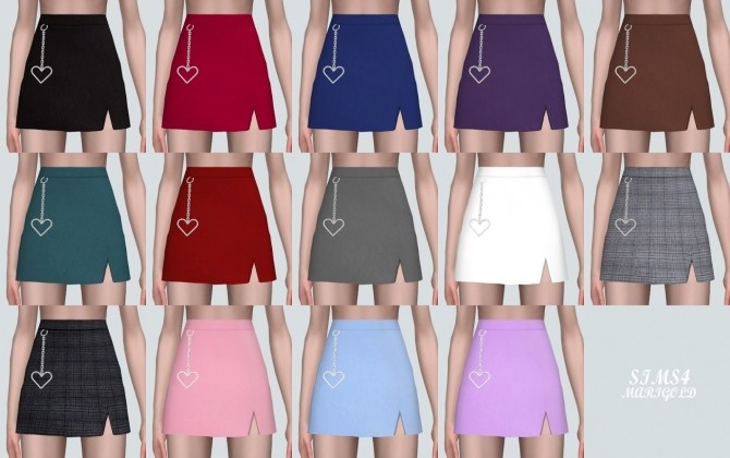 Heart Chain Mini Skirt at Marigold image 938 670x420 Sims 4 Updates