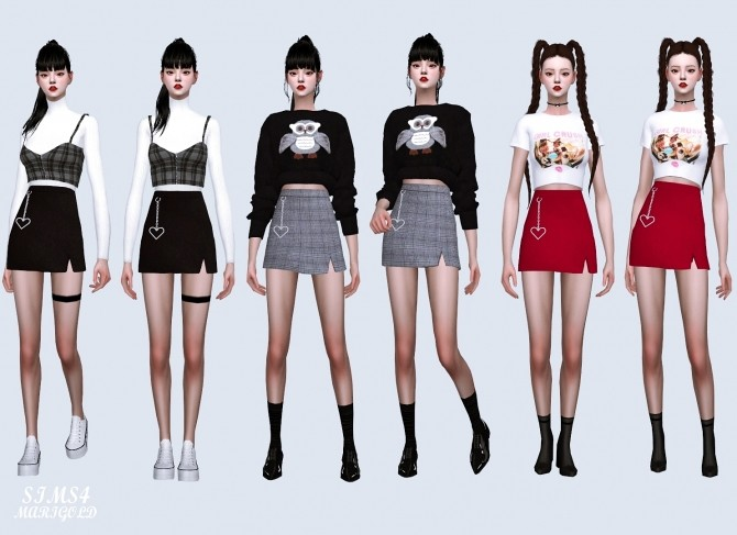 Heart Chain Mini Skirt at Marigold image 948 670x487 Sims 4 Updates
