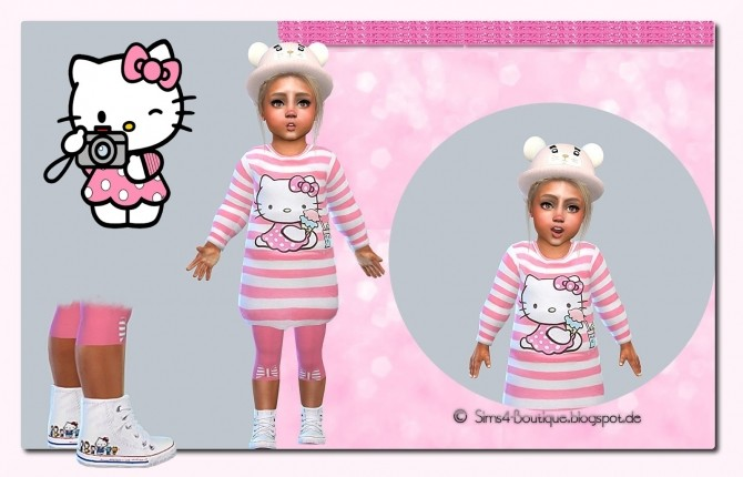 Kitty Dress & Tights & Shoes Set #1 at Sims4 Boutique image 9513 670x430 Sims 4 Updates