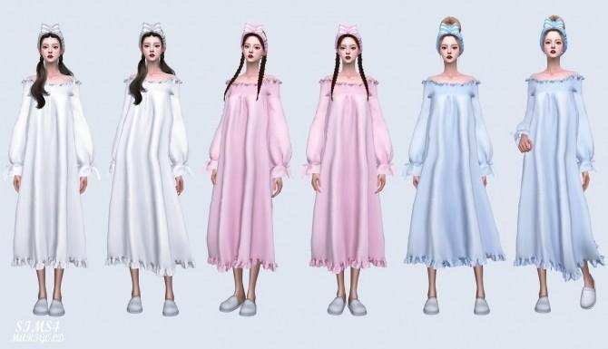 Off Shoulder Night Dress at Marigold image 9518 670x385 Sims 4 Updates