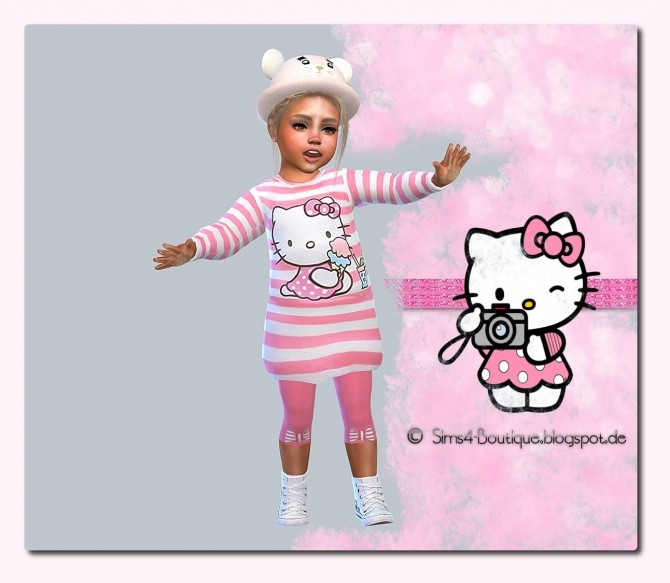 Kitty Dress & Tights & Shoes Set #1 at Sims4 Boutique image 9614 670x583 Sims 4 Updates