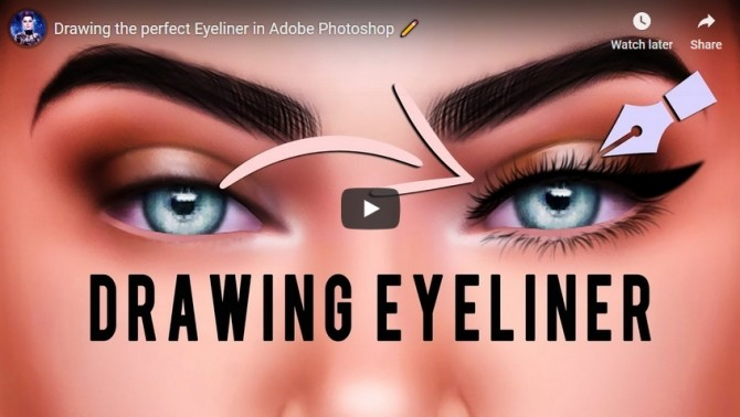Drawing the perfect Eyeliner in Adobe Photoshop at Katverse image 971 670x378 Sims 4 Updates