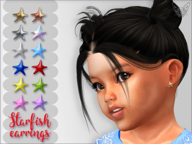 Sims 4 Starfish Earrings For Toddlers at Giulietta