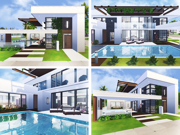 Sims 4 Eamon contemporary house by Rirann at TSR