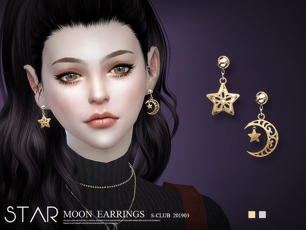 EARRINGS 201903 by S Club LL at TSR image 1014 Sims 4 Updates
