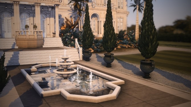 Sims 4 Royal Palm Mansion at Harrie